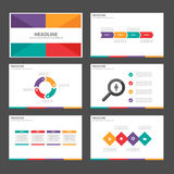 Clolorful Infographic elements icon presentation template flat design set for advertising marketing brochure flyer Stock Photography