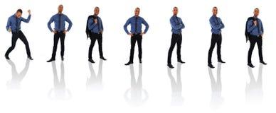 Clone africano do homem de negócios Foto de Stock Royalty Free