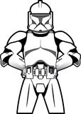 Clone at Attention. Clone is standing at attention ready for orders royalty free illustration