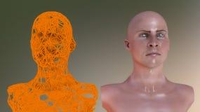 Clone della testa di umanoide royalty illustrazione gratis