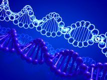 Clone DNA. Background the image of a cloned Genes Stock Photo