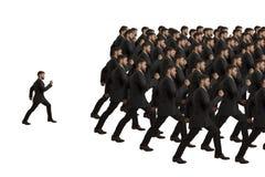 Clone e indivíduo de marcha Fotos de Stock