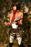 Clone-oid de Mikasa Ackerman de Shingeki aucun Kyojin Image libre de droits