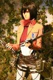 Clone-oid de Mikasa Ackerman de Shingeki aucun Kyojin Photo stock