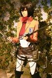 Clone-oid di Mikasa Ackerman da Shingeki nessun Kyojin Fotografia Stock