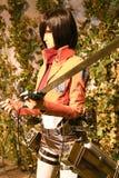 Clone-oid di Mikasa Ackerman da Shingeki nessun Kyojin Fotografie Stock