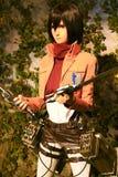 Clone-oid di Mikasa Ackerman da Shingeki nessun Kyojin Fotografia Stock Libera da Diritti
