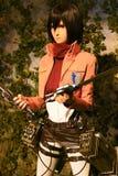 Clone-oid di Mikasa Ackerman da Shingeki nessun Kyojin Immagine Stock Libera da Diritti