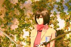 Clone-oid of Mikasa Ackerman from Shingeki no Kyojin Royalty Free Stock Photos
