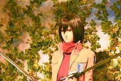 Clone-oid of Mikasa Ackerman from Shingeki no Kyojin Stock Photo