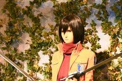 Clone-oid of Mikasa Ackerman from Shingeki no Kyojin Royalty Free Stock Photography