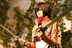 Clone-oid of Mikasa Ackerman from Shingeki no Kyojin Stock Image