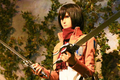 Clone-oid of Mikasa Ackerman from Shingeki no Kyojin Stock Photos