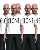 Cloned 35. A conceptual image of a man that has been cloned many times Royalty Free Stock Images
