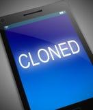 Cloned telefonbegrepp Arkivfoto