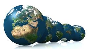 Cloni del globo Illustrazione Vettoriale