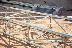 Cloni della struttura d'acciaio Fotografie Stock Libere da Diritti