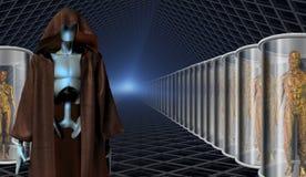 Cloni ed i loro custodi del robot illustrazione vettoriale