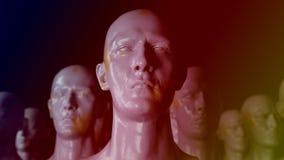 Cloning humanoid figures. 3D render. Cloning humanoid figures royalty free illustration