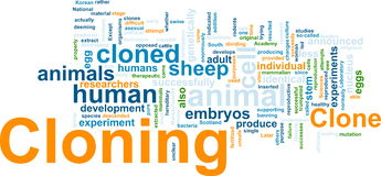 Cloning word cloud. Word cloud concept illustration of cloning clone Stock Photography