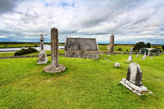 Clonmacnoise. Is an ancient monastic site near Shannonbridge, County Offaly,Ireland Stock Photo