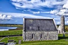 clonmacnoise co爱尔兰修道院寺庙 免版税库存照片