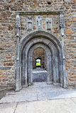 Clonmacnoise Doorway. Clonmacnoise is an ancient monastic site near Shannonbridge, County Offaly,Ireland Royalty Free Stock Photography