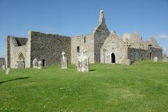 Clonmacnoise, Ierland Stock Foto's