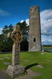 Clonmacnoise, Ireland. Historic heritage of Clonmacnoise, Ireland Royalty Free Stock Photos