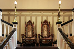 Clontarf Castle, twin chairs. . Dublin. Ireland Stock Image
