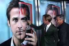 clooneygeorge gosling ryan royaltyfria bilder