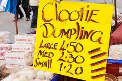 Clootie Dumpling Sign Stock Photography