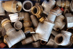 Clopse-up das tubulações Galvanized imagem de stock