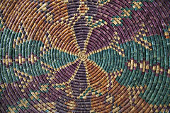 Clored Rush Mat. In spiral form Stock Images