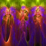 Clorful abstract fractal wallpaper with different and many shapes. Abstract background with different forms and different colors for any purposes vector illustration