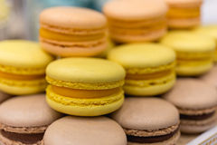 Clorful macaroons background Stock Photography