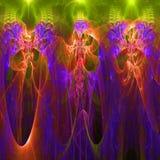 Clorful resume el papel pintado del fractal con diferente y muchas formas Fotos de archivo