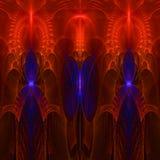 Clorful resume el papel pintado del fractal con diferente y muchas formas Foto de archivo libre de regalías