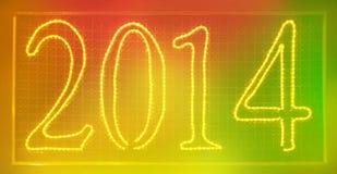 2014 Clorful-teken Stock Fotografie