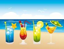 Clorful wakacji świezi koktajle ilustracji