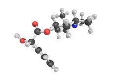 Cloridrato di Eucatropine, un carboidrato biochimico modello 3d fotografie stock