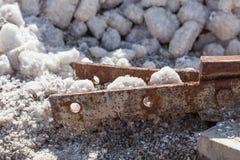 Cloruro di sodio (NaCl) immagini stock