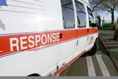 Clos del veicolo di emergenza medica Immagine Stock