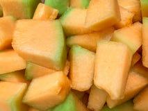 Clos herauf goldene Melone stockbilder