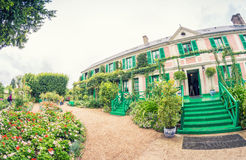 Clos Normand dom Claude Monet ogrodowy Sławny Francuski impr Obraz Stock