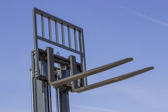 Close of adjustable pallet lifter Royalty Free Stock Image