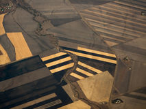 Close Aerial View of Crop Patterns Qld AU stock images