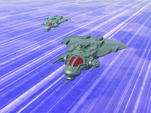 Close Air Support Aircraft (CAS). On formation at high speed. Original creation by the author Stock Illustration