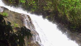Close approach to waterfall, Phuket. Thailand, South East Asia. 4K stock footage