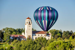 Close balloon at the Boise train depot Royalty Free Stock Image
